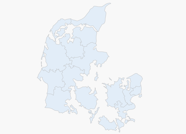 Weather map of Denmark